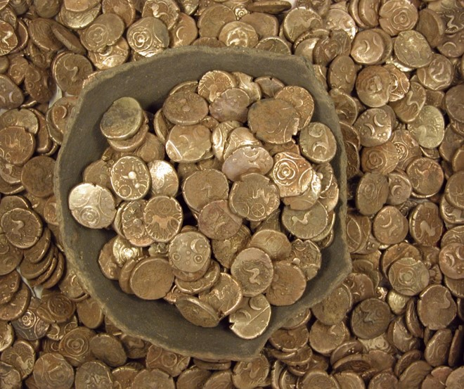 Image of lots of cold coins
