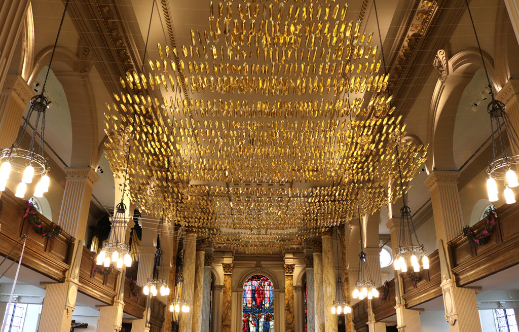 Soul Boats art installation at Birmingham Cathedral